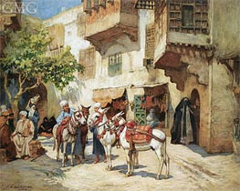 The Market Square, undated by Frederick Arthur Bridgman | Painting Reproduction