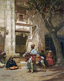 Outside the Mosque, undated by Frederick Arthur Bridgman | Painting Reproduction