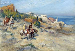 Horsemen in Algiers, undated by Frederick Arthur Bridgman | Painting Reproduction