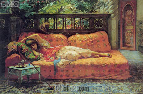 The Siesta (Afternoon in Dreams), 1878 | Frederick Arthur Bridgman | Painting Reproduction