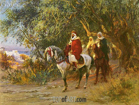 The Return, 1892 | Frederick Arthur Bridgman | Painting Reproduction