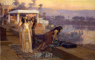Cleopatra on the Terraces of Philae, 1896 | Frederick Arthur Bridgman | Gemälde Reproduktion
