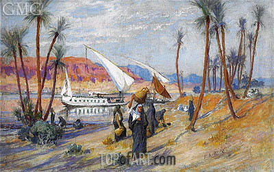 Water Carriers by the Nile, undated | Frederick Arthur Bridgman | Painting Reproduction