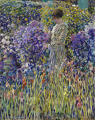 Lady in a Garden, c.1912 | Frederick Frieseke | Painting Reproduction