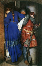 The Meeting on the Turret Stairs, 1864 by Frederick Burton | Painting Reproduction