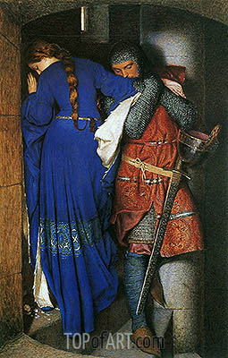 The Meeting on the Turret Stairs, 1864 | Frederick Burton | Painting Reproduction