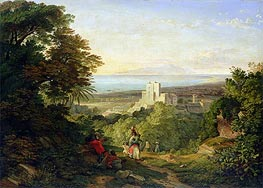 View of Terracina and Monte Circeo, 1833 by Friedrich Nerly | Painting Reproduction