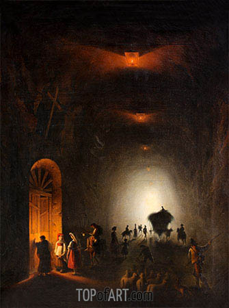 Tunnel in Possillipo, Naples, undated | Friedrich Nerly | Painting Reproduction