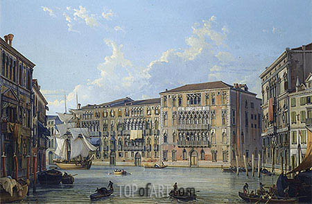 The Palazzo Foscari on the Grand Canal, Venice, undated | Friedrich Nerly | Painting Reproduction