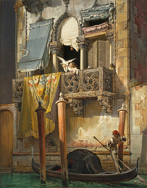 The House of Desdemona, 1855 | Friedrich Nerly | Painting Reproduction