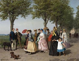 The Ladies' Promenade, Undated by Fritz Paulsen | Painting Reproduction