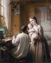 The Watchmaker and His Family, undated von Zuber-Buhler | Gemälde-Reproduktion