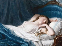 Reclining Beauty, undated by Zuber-Buhler | Painting Reproduction