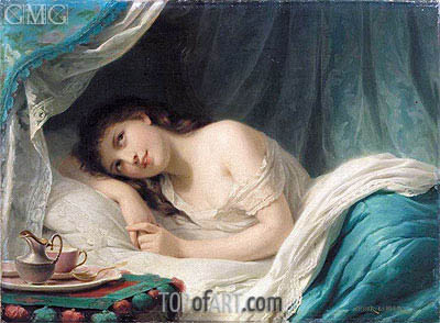Reclining Beauty, undated | Zuber-Buhler | Painting Reproduction