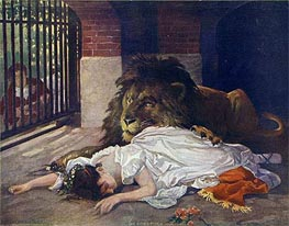The Lion's Bride, undated by Gabriel Max | Painting Reproduction