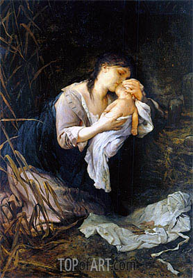 The Child Killer, 1877 | Gabriel Max | Painting Reproduction