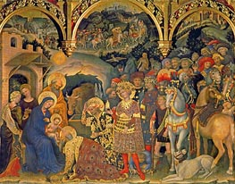 Adoration of the Magi, 1423 by Gentile da Fabriano | Painting Reproduction