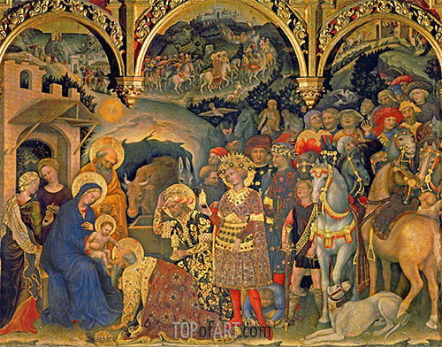 Adoration of the Magi, 1423 | Gentile da Fabriano | Painting Reproduction