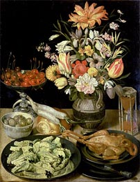 Still Life with Flowers and Snacks | Georg Flegel | Painting Reproduction