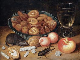 Still Life with Chestnuts and Hazelnuts | Georg Flegel | Painting Reproduction