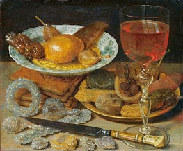 Meal with Fruit and Sweetmeats | Georg Flegel | Painting Reproduction