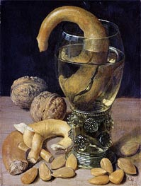 Still life with Pretzels, Nuts and Almonds | Georg Flegel | Gemälde Reproduktion
