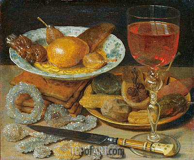 Meal with Fruit and Sweetmeats, undated | Georg Flegel | Painting Reproduction