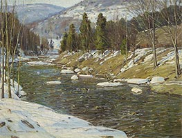 Through Wooded Hills, c.1914 by George Gardner Symons | Painting Reproduction