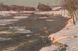 The Winter Sun, c.1909 by George Gardner Symons | Painting Reproduction