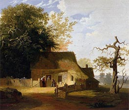 Cottage Scene, 1845 by George Caleb Bingham | Painting Reproduction