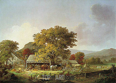 Autumn in New England, Cider Making, 1863 | George Henry Durrie | Gemälde Reproduktion