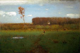 October Noon, 1891 von George Inness | Gemälde-Reproduktion