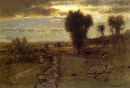 The Clouded Sun | George Inness | Painting Reproduction