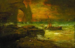 Sunset, Etretat | George Inness | Painting Reproduction