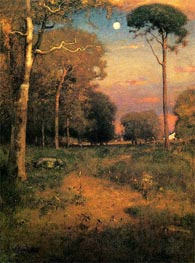 Early Moonrise, Florida (Early Morning, Florida) | George Inness | Painting Reproduction