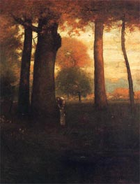 Sunset, Golden Glow, 1893 von George Inness | Gemälde-Reproduktion