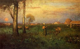 Sundown | George Inness | Painting Reproduction