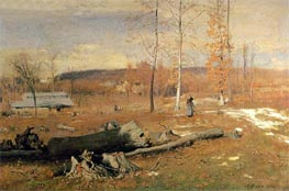 Winter Morning, Montclair, 1882 von George Inness | Gemälde-Reproduktion