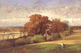The Old Oak, Medfield, Massachusetts, 1875 von George Inness | Gemälde-Reproduktion