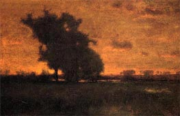 Sonnenuntergang in Milton | George Inness | Gemälde Reproduktion