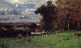 A Breezy Autumn | George Inness | Painting Reproduction