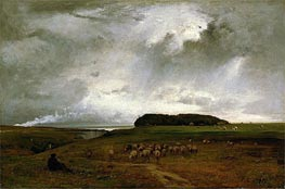 The Storm, 1876 by George Inness | Painting Reproduction