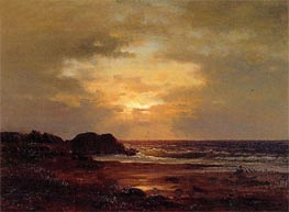 Coast Scene, c.1857 by George Inness | Painting Reproduction