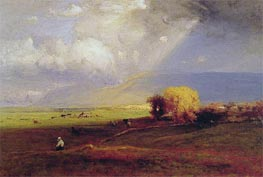 Passing Clouds, 1876 by George Inness | Painting Reproduction