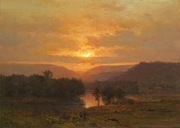 Sunset, c.1860/65 by George Inness | Painting Reproduction