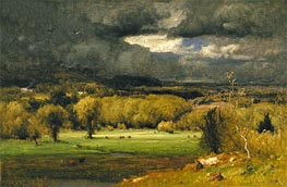 The Coming Storm, 1878 by George Inness | Painting Reproduction
