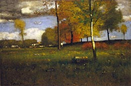 Near the Village, October, 1892 by George Inness | Painting Reproduction