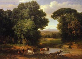 A Bit of Roman Aqueduct, c.1852 by George Inness | Painting Reproduction