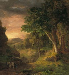 In the Berkshires, c.1848/50 by George Inness | Painting Reproduction