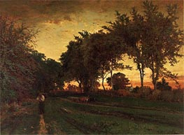 Evening Landscape, c.1862/63 by George Inness | Painting Reproduction